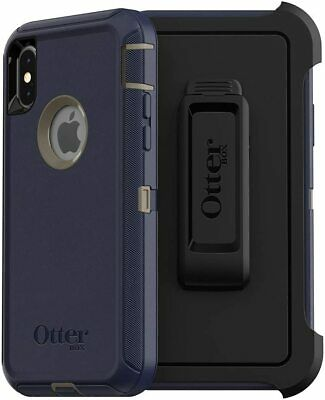 OtterBox Defender Series Case and Holster for iPhone Xs and iPhone X - Dark Lake