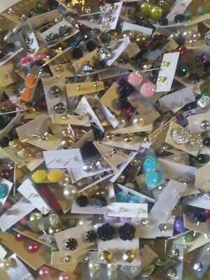 Wholesale Jewelry Lot New Stud Earrings 50 Pairs Free Shipping US Seller