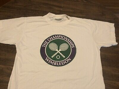 Vintage The Tennis Championships Wimbledon Medium White T Shirt