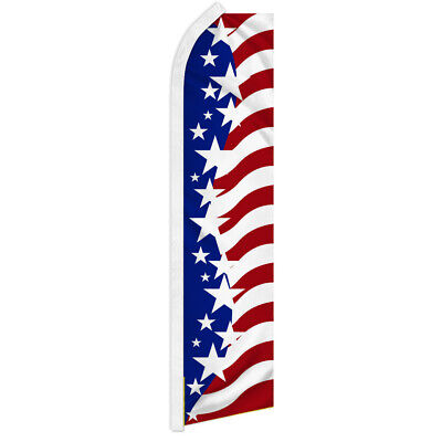 Star Spangled USA Swooper Flutter Feather Flag Advertising American Flag USA