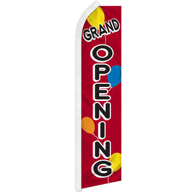Grand Opening Swooper Flutter Feather Advertising Flag Now Open Balloons