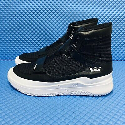 Supra Theory Men's Size 9 Athletic Skate Casual Sneakers Black Shoes