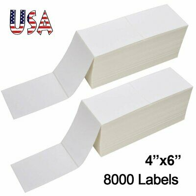 8000 4x6 Fanfold Direct Thermal Shipping Labels Blank For Zebra Rollo Printer