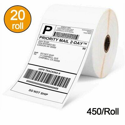 20 Rolls 4x6 Thermal Shipping Labels for Zebra Eltrom 2844 ZP450 - 450 per roll