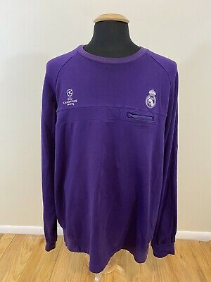 Men's REAL MADRID ADIDAS CHAMPIONS LEAGUE TRAINING Long Sleeve TOP Size XL