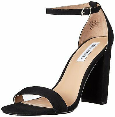 Steve Madden Womens Carrson Leather Open Toe Special Black Suede Size 8-5 auKI