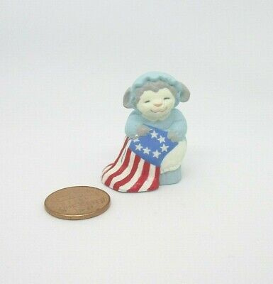 Hallmark Merry Miniatures Fourth of July BETSY ROSS LAMB