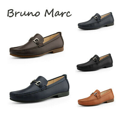 Bruno Marc Mens Dress Loafers Slip On Casual Penny Moccasin Loafer Shoes