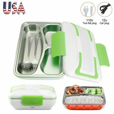 Portable Electric Heating Lunch Box Food Heater Warmer Travel Bento Container