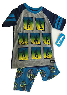Fortnite Boys 2 Pc Size 8 Pajama Set Top  Pants NWT Blue New Medium New