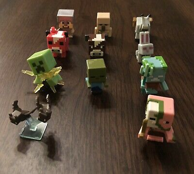 11 MINECRAFT TOY LOT MINIFIGURES MOBS ANIMALS