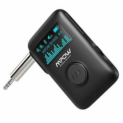 Mpow Bluetooth Music Receiver 5-0 Receiver with Display Black