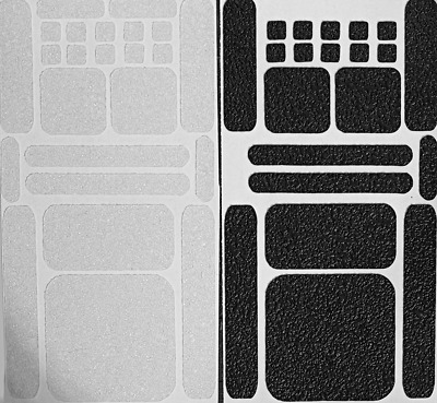 24 pieces CLEAR or BLACK Rubber Grip Tape for Cell Phone Laptop Controller