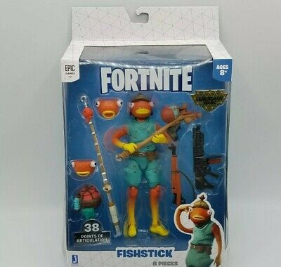 Fortnite Legendary Series Fishstick 6 Action Figure 8 Pieces Brand New EPICGAME