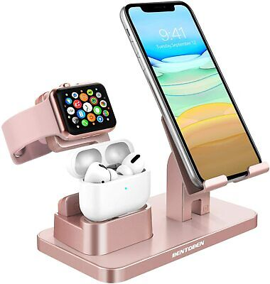 3 in 1 Charging Dock Station Holder Stand for Airpods Apple Watch iPhone 11 12
