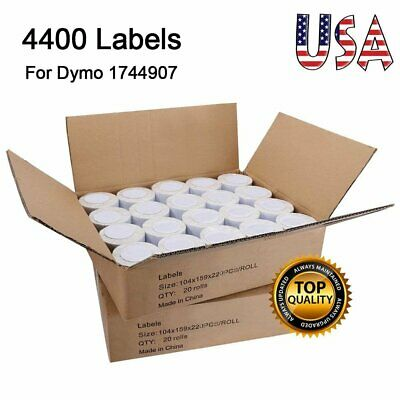20 Rolls 4x6 Shipping Address Labels 1744907 Compatible for DYMO 4XL LabelWriter