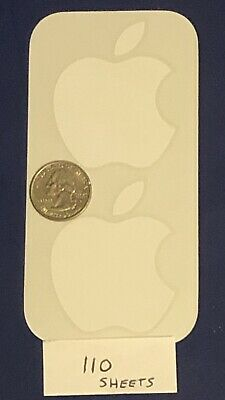 Apple Sticker Genuine Logo New OEM Authentic White 179 Sheets Of Apple Stickers