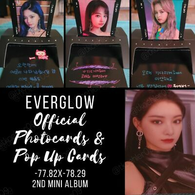 EVERGLOW -77-82X-78-29 2nd Mini Album Official Photocard Pop Up Card Postcards