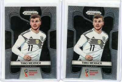2 TIMO WERNER 2018 Panini Prizm World Cup Rookie Card RC 98 Lot Chelsea