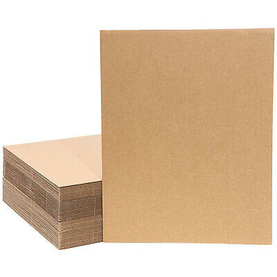 50-Pack Corrugated Cardboard Sheets Large Kraft Inserts for Packing 11 x 14