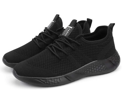 2 Pair Mens Sport Gym Running Shoes Walking Shoes Casual Lace Up Lightweight
