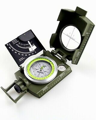 AOFAR Military Compass AF-4074  Sighting OutdoorCamping Hiking Survival Marching