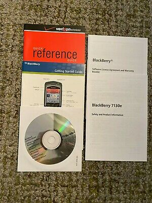 Blackberry 7130e Desktop Software CD Getting Started Guide Quick Reference Gui