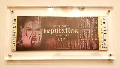 Taylor Swift Reputation Stadium Tour Holographic Ticket Brand NEW from VIP Box