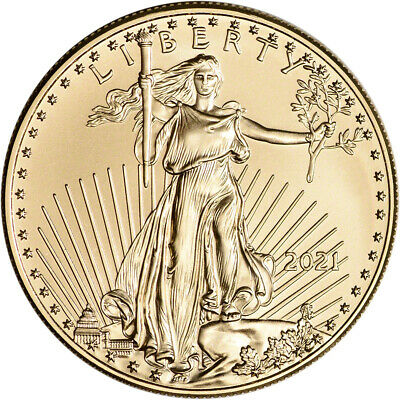 2021 American Gold Eagle 1 oz 50 - BU