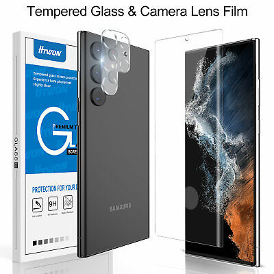 For Samsung Galaxy S21 Ultra Plus S20 FE Note 20 Tempered Glass Screen Protector