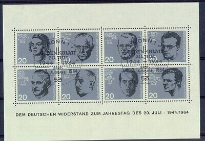 11314 GermanyFRG1964Canceled souvenir sheet Nr3 with 2 special first day