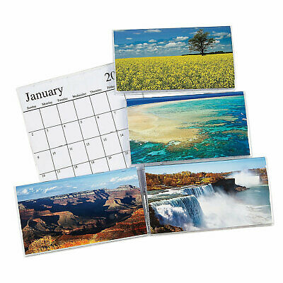 2021-2022 Beautiful America Pocket Calendar 6-5 x 3-5 With Clear Vinyl Cover