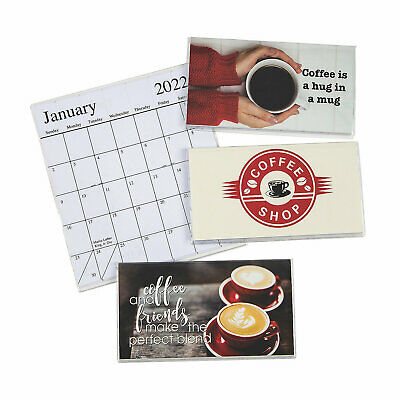 2021-2022 Coffee Pocket Calendars 6-5 x 3-5 With Clear Vinyl Covers New