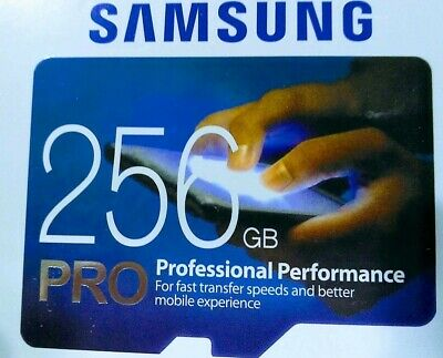 SAMSUNG Pro 256GB MicroSD Micro SDXC C10 Flash Memory Card w SD Adapter