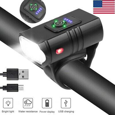 USB Rechargeable T6 LED Bicycle Headlight Bike Front Light MTB Cycling Waterproo