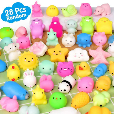 Mochi Animals Stress Squishy Toy Mini Toys Lot Squishies Package 28 Pieces