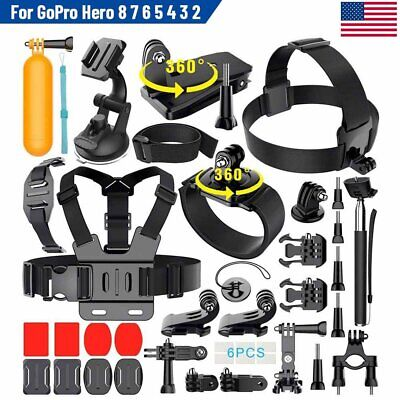 Monopod Floating Mount Accessories Kit For GoPro Hero 8 7 6 5 4 3 Sports Camera