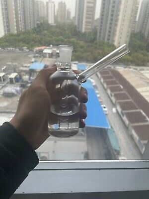 RORA Mini Glass Burner Water Bong Pipes Thick Clear Pipe Small Bubbler Bong 14mm