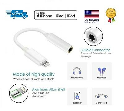 for Apple iPhone Headphone Adapter Jack Audio 3-5mm Aux Music Dongle iPad iPod