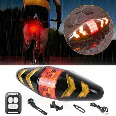 Bike Tail Light USB Rechargeable Bicycle Taillight Rear Warning Lamp Turn Signal