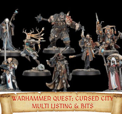 Warhammer Quest Cursed City MINIATURES - BITS Multi List fantasy sigmar BIT rare