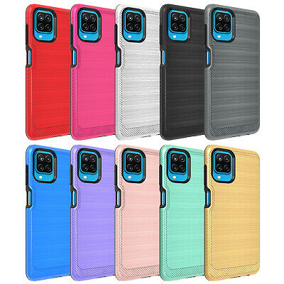 For Samsung Galaxy A12 Case Slim Shockproof Cover-Tempered Screen Protector