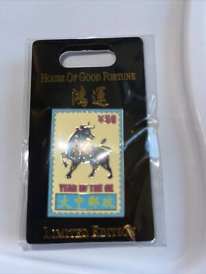 Chinese Zodiac Year of the Ox Postage Lapel Pin