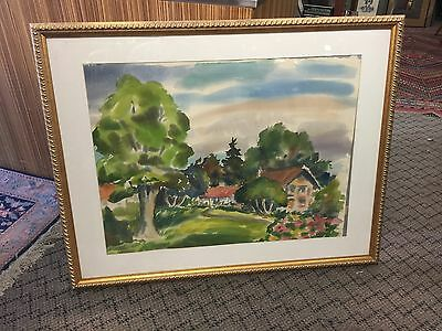 Large Ted Lewy Watercolor San Francisco Artist 2