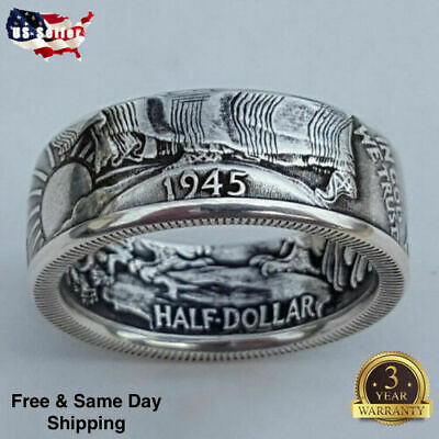 Fashion Silver Plated Rings for Men Jewelry Rings Free Shipping Size 7-13