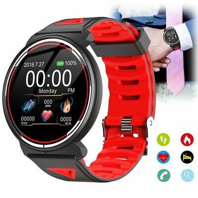 Round Screen Bluetooth Smart Watch ECG Heart Rate Monitor For Android iOS iPhone