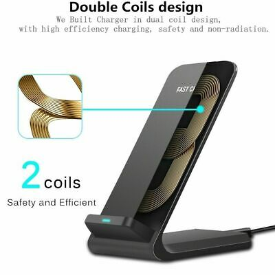 15W Qi Wireless Fast Charger Charging Dock for Samsung iPhone Android Cell Phone