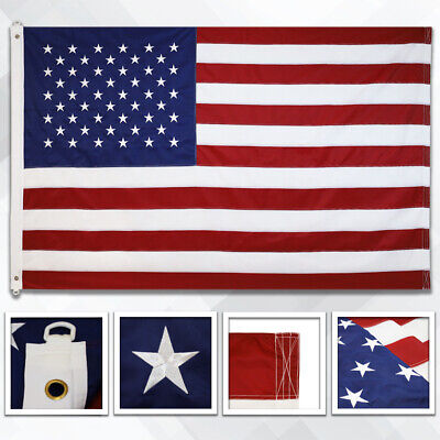 Embroidered American Flag 8x12ft Large Embroidered USA Flag 8 x 12