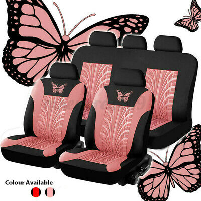 49PCS Auto Seat Covers for Car Truck SUV Van Universal Protectors Butterfly