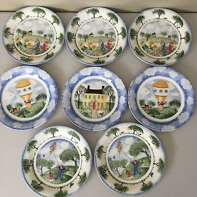 Set Of 8 Nikko REMEMBER WHEN Salad Plates 8 18 4 Different Scenes